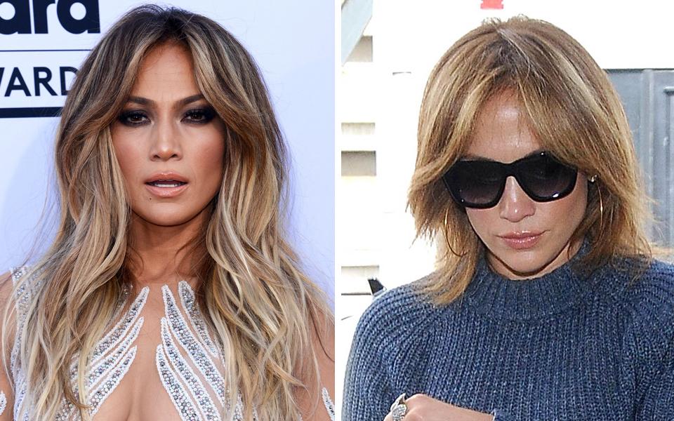 Pony Frisur Jennifer Lopez Helle Haarfarbe 2019