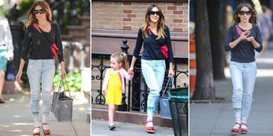 Sarah Jessica Parker: Sandalen mit Socken