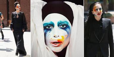 Lady Gaga im erschreckenden Clowns Kostüm