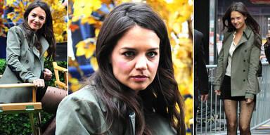 Katie Holmes: ein grauer Hingucker