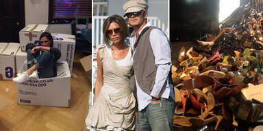 Beckhams spenden Kisten voller Luxus-Kleidung