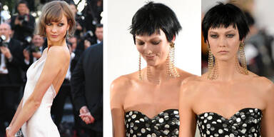 Karlie Kloss trägt plötzlich einen schwarzen Pixie-Cut
