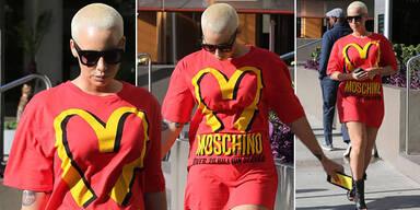Amber Rose zeigt ihre Liebe zu Moschino
