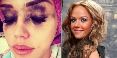 Was ist bloß mit ihrem Make-up passiert?