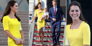 Herzogin Kate strahlend schön in Australien
