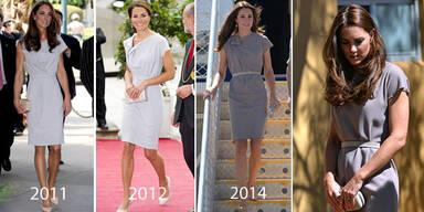 Herzogin Kate trägt altes Kleid in neuer Farbe