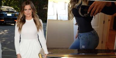 Khloé Kardashian präsentiert ihre XS-Taille