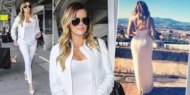Khloe Kardashian: Ganz in Weiß