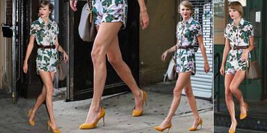 Taylor Swift zeigt Endlos-Beine in Blümchen-Suit