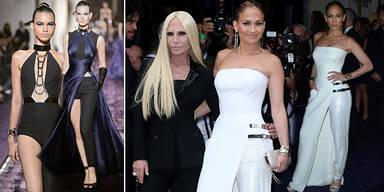 Atelier Versace: J.Lo in Rock & Kleid zugleich