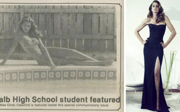 Cindy Crawfords allererstes Model-Foto