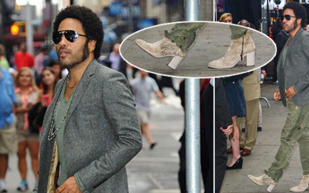 Lenny Kravitz liebt Frauen-Stiefeletten