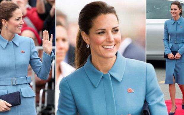 Herzogin Kate: So elegant in Babyblau