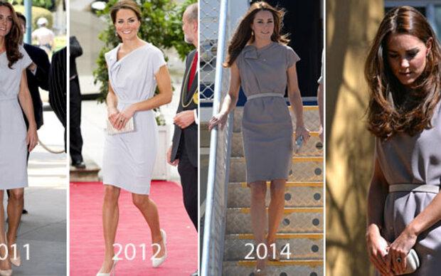 Herzogin Kate recycelt altes Kleid in neuer Farbe