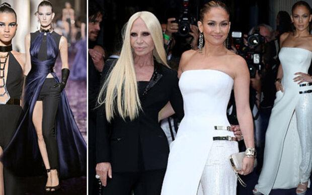 Jennifer Lopez in Hose & Kleid zugleich?