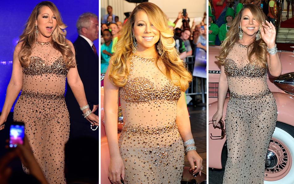 Mariah Carey als Glitzer-Presswurst