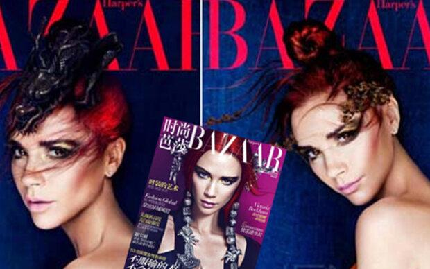 Victoria Beckham posiert in Rot für Harper's Bazaar