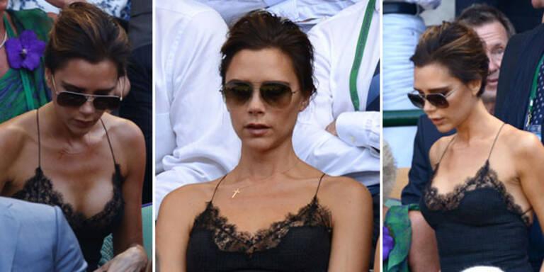 Victoria Beckham im Negligé bei Wimbledon