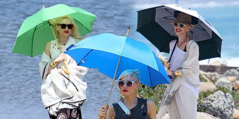 Sonnen-Angst: Gwen Stefani versteckt sich