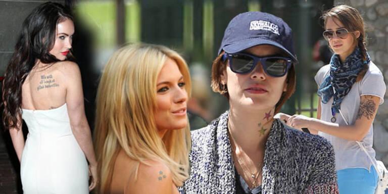 Hollywood-Stars zeigen ihre Tattoos