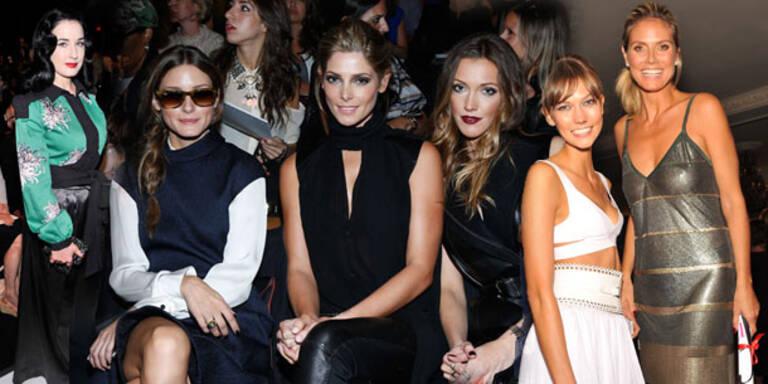 Front Row Stars stehlen Models beinahe die Show