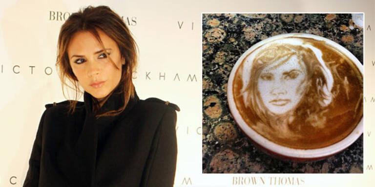 Star-Porträts in der Kaffee-Tasse