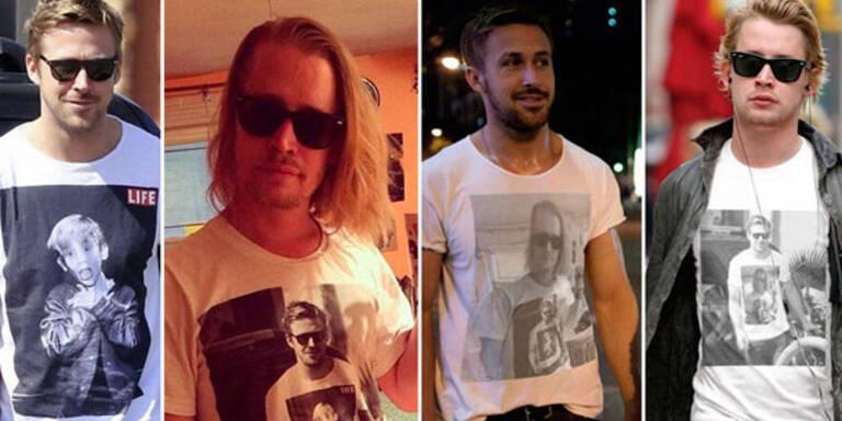 Gosling & Culkin im witzigen T-Shirt-Duell