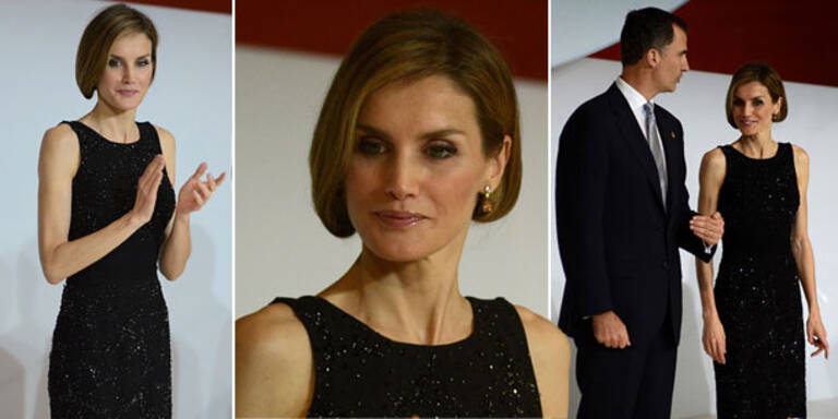 Königin Letizia zeigt sich mit neuem Hairstyle
