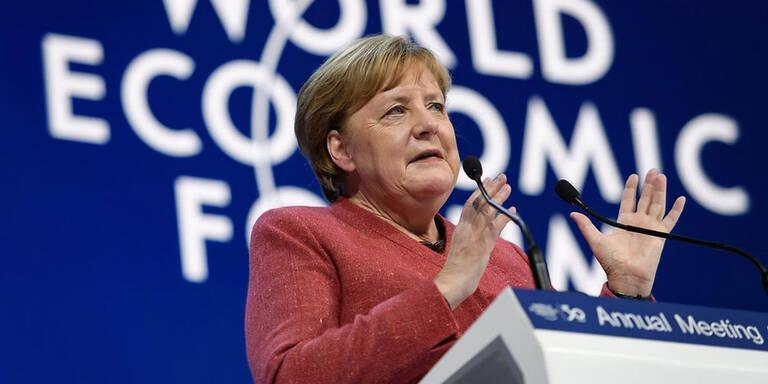 Merkel in Davos: Mit China enger bei Klimaschutz zusammenarbeiten