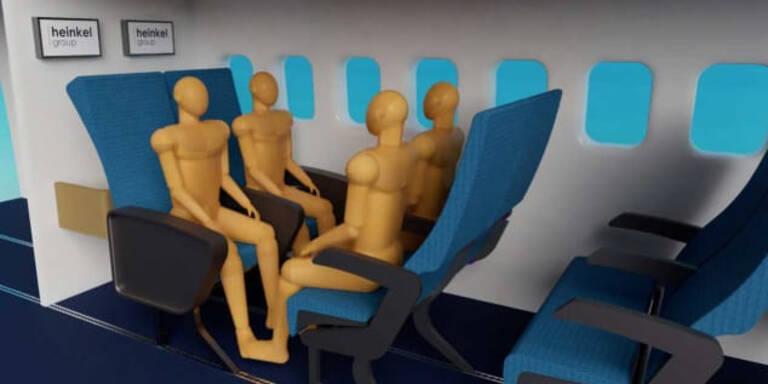 Jetzt sollen Viererplätze im Flugzeug kommen