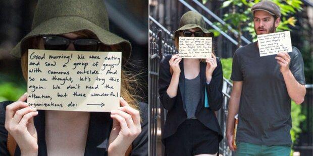 Emma Stone zeigt's nervigen Paparazzi