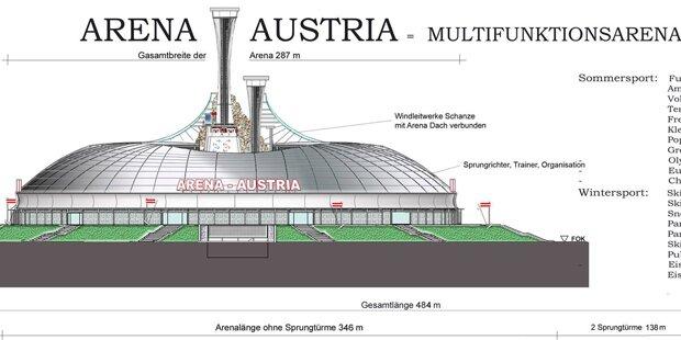 Geheimplan: Erster Blick aufs neue Nationalstadion