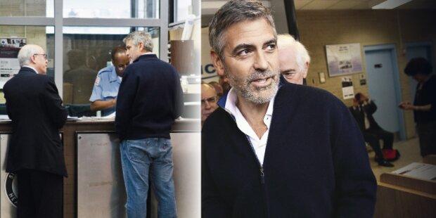 Hier geht Clooney aus dem Gefängnis