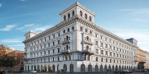 Unten Bankzentrale, oben Luxuswohnungen