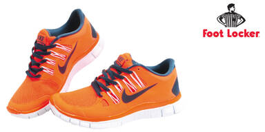 Nike-Sneakers in Orange