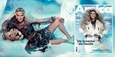 Heidi Klum als wilde Eisprinzessin
