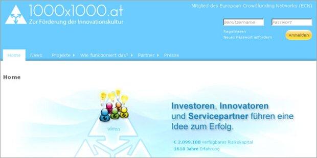 Crowdfunding-Plattform 1000x1000.at startet