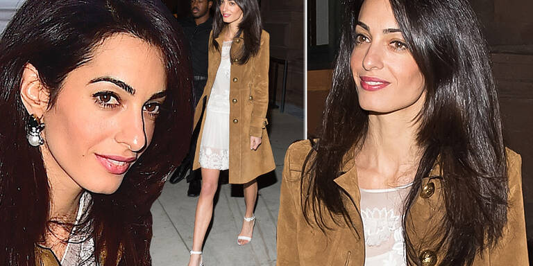 Amal Clooney in Trend-Kombi