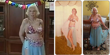 100- Jährige Bauchtänzerin