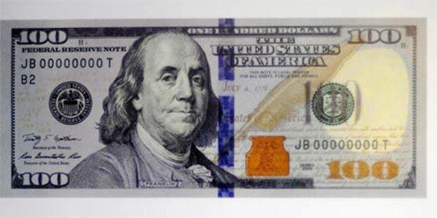 Neue 100-Dollar-Note gegen Fälschungen