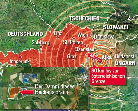 Gift-Schlamm Bedrohung für Österreich