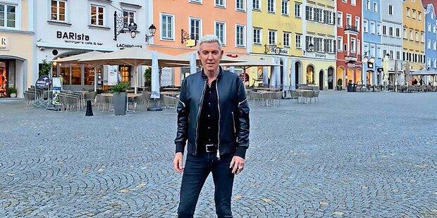 Scooter-Star H.P. Baxxter auf Urlaub in Schärding