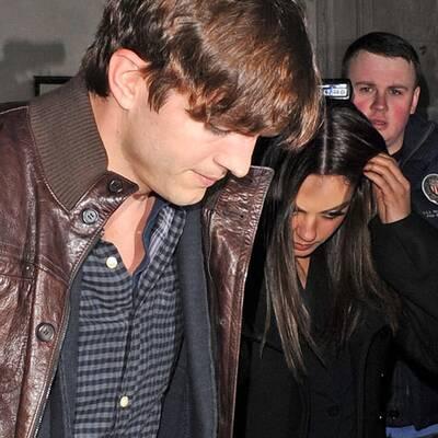 Ashton Kutcher besucht Mila Kunis in London