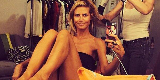 Heidi Klum: Ist sie Selfie-süchtig?