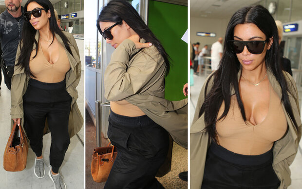XXL-Dekolleté: Kim Kardashians Flop-Styling