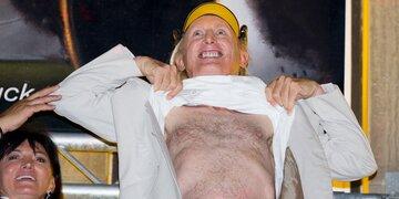 Komiker feierte zwei Tage lang: Otto: 70er mit Strip, Freibier & Würsten