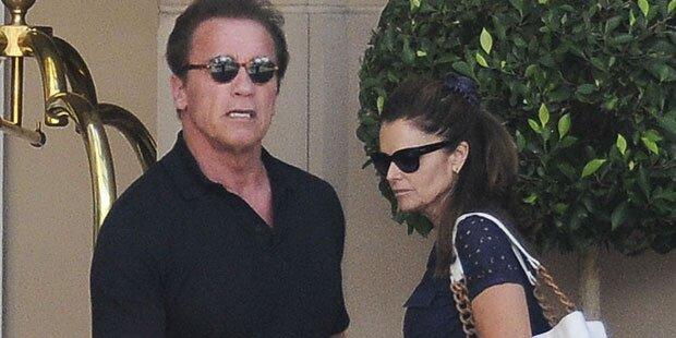 Arnie feiert mit Ex-Frau Geburtstag