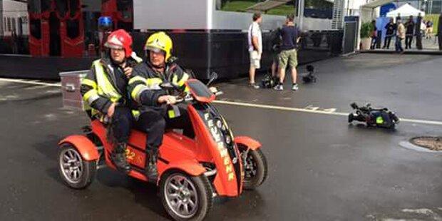 Formel 1: Camper verursachen Waldbrand