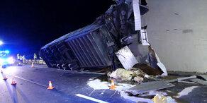So heftig ist der Viehtransport-Unfall