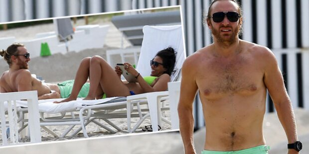 David Guetta: Strand- Flirt mit sexy Beauty